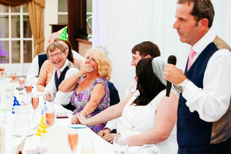 Hilarious speech by father of the bride