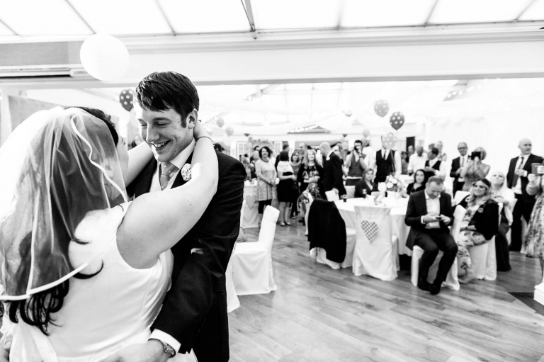 Bride and groom first dance at Mere court
