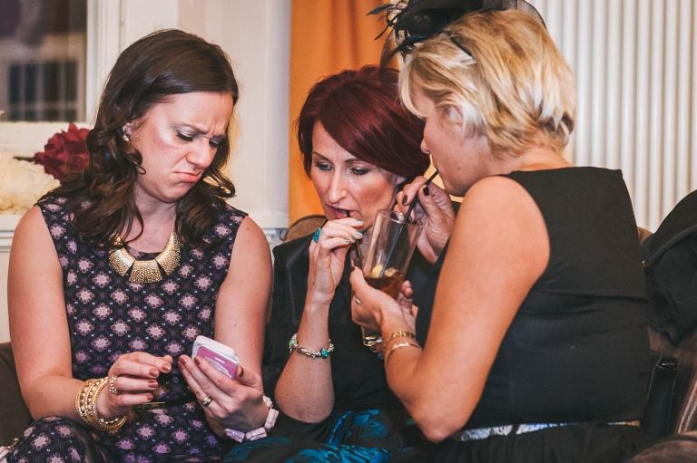 guests look at phone