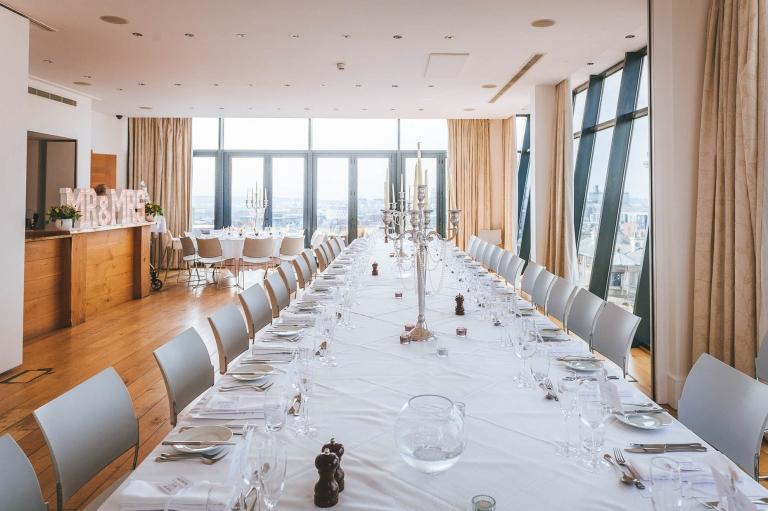 Hope street hotel wedding breakfast room