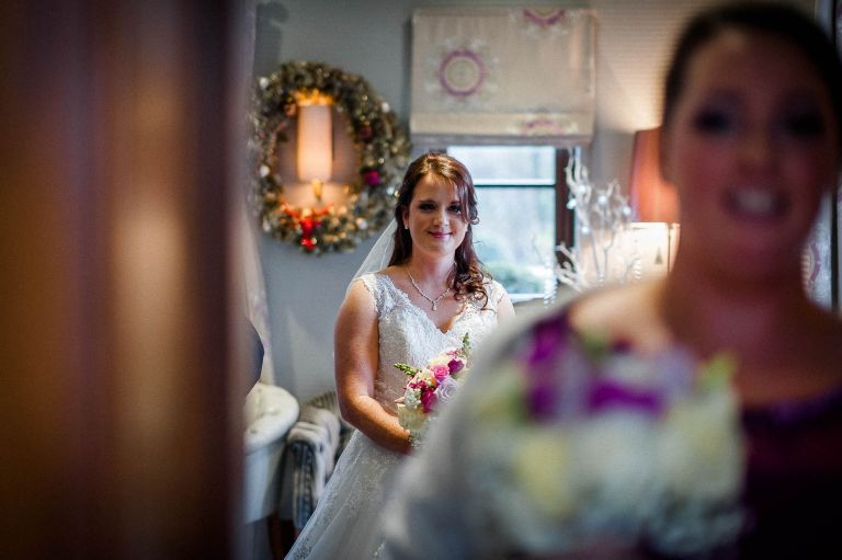 Bride ready to enter the ceremony room