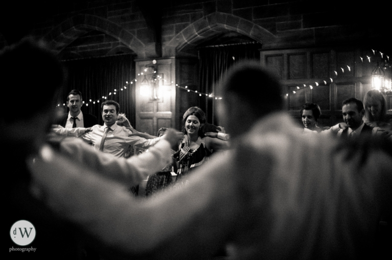 Guests greek dancing