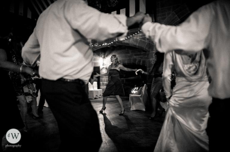 Sister of the groom dancing