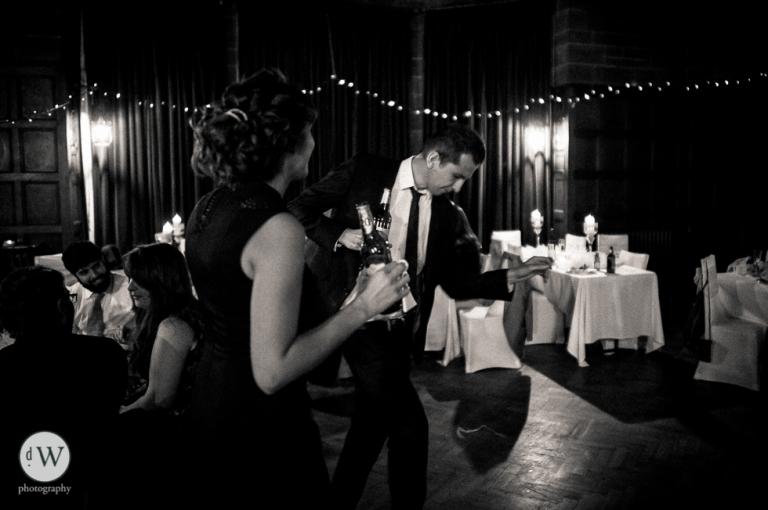 Man dancing with partner