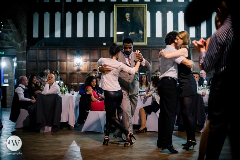 Guests ballroom dancing