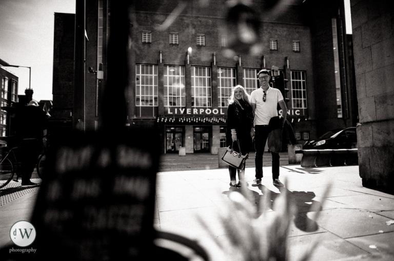 Couple outside Liverpool Philarmonic