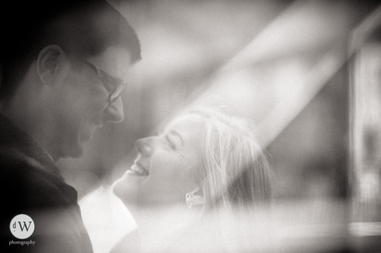 Close up of couple smiling together