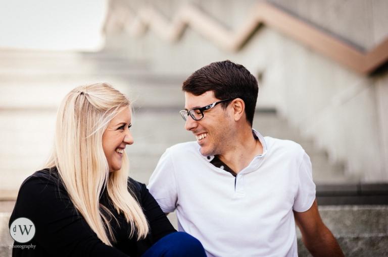 Couple share a joke