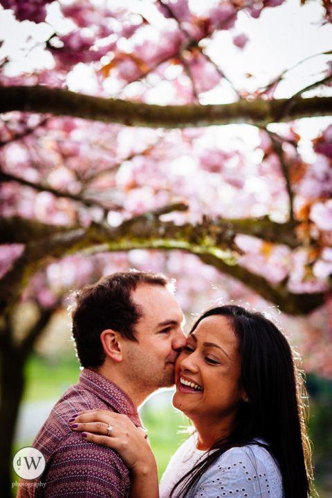 Man kisses girl