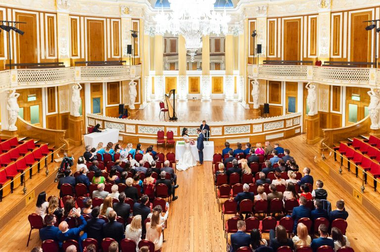 wide shot of the Concert Room in St Georges Hall