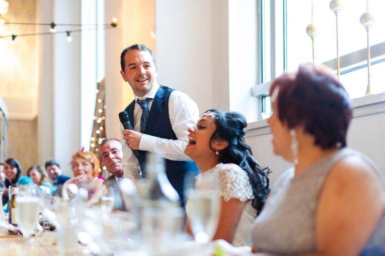 Groom pokes fun at brides mum during his speech