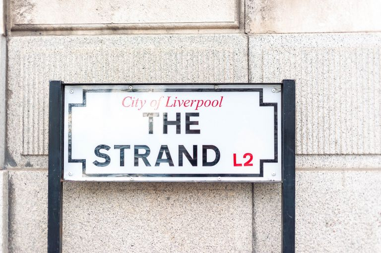 The Strand street sign