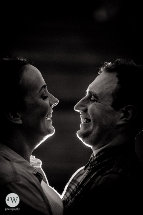 Couple close up smiling