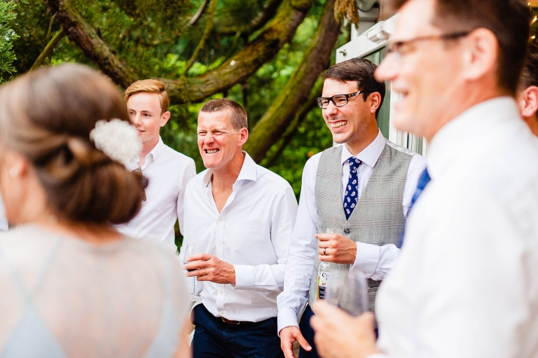 Groom and guests having fun