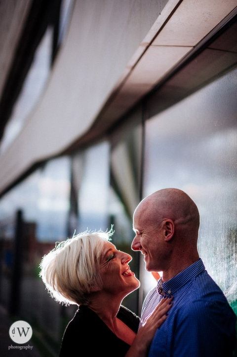 Close up of couple outside Liverpool Museum