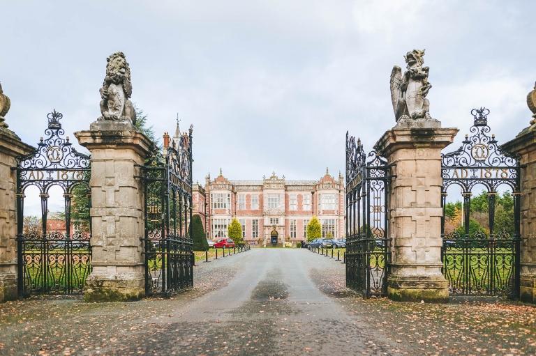 Crewe hall and gates