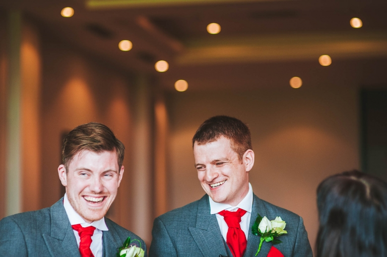 Groom and best man having a great time