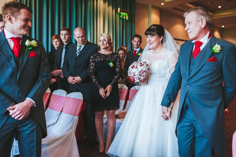 Joy and celebration for the wedding