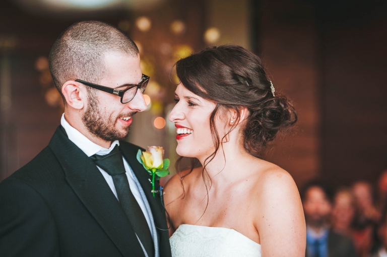 """Bride and groom in bliss after they say """"I do"""""""