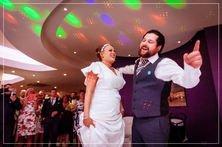 Bride and groom dancing the first dance