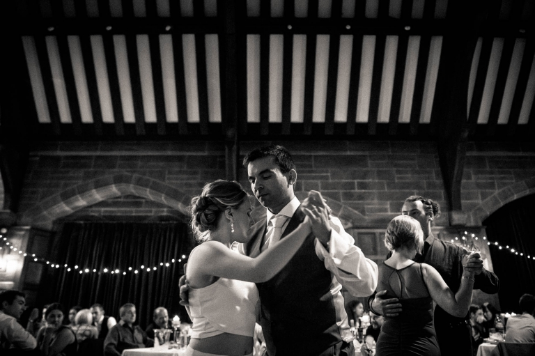 bride and groom doing a salsa dance