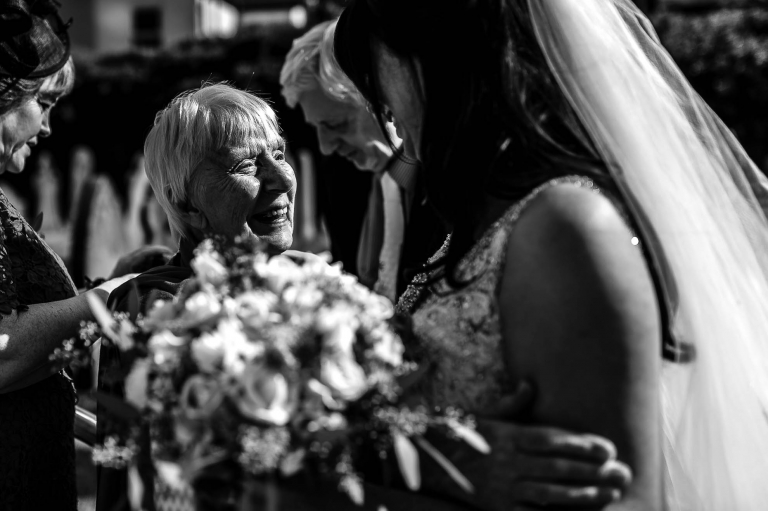 grandmother of the bride congratulates her