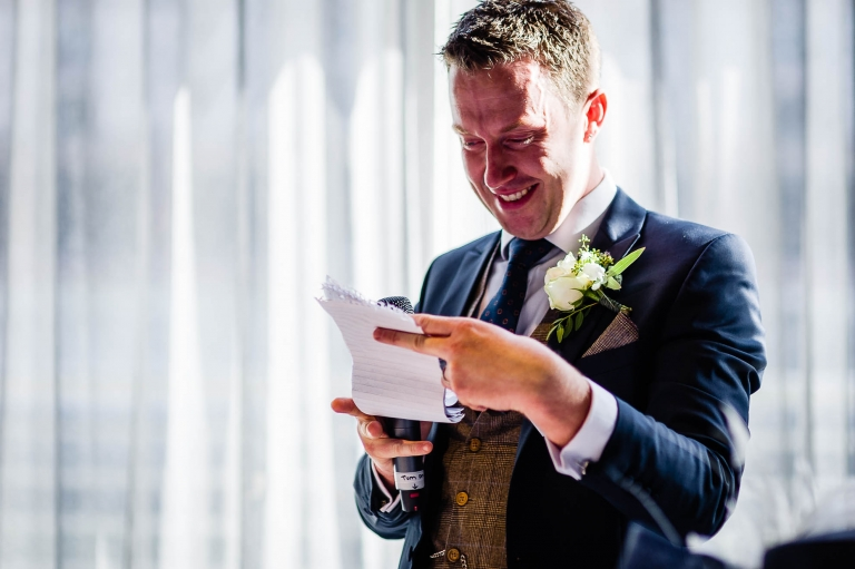 Groom gives his speech