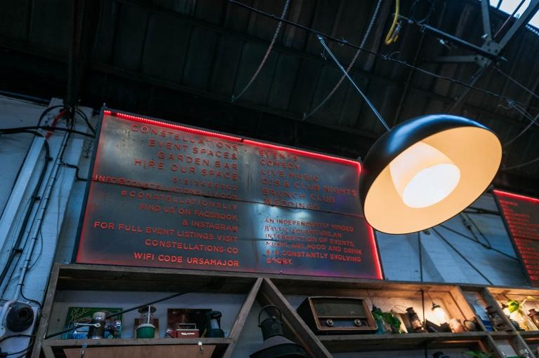 Constellations bar sign