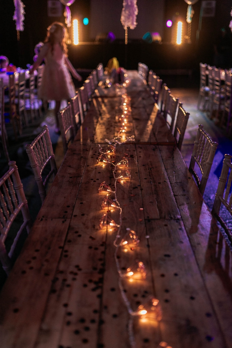 light decorations on a table at constellations