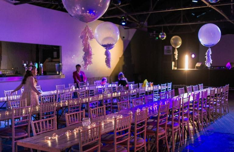 wedding reception room at consellations liverpool wedding venue