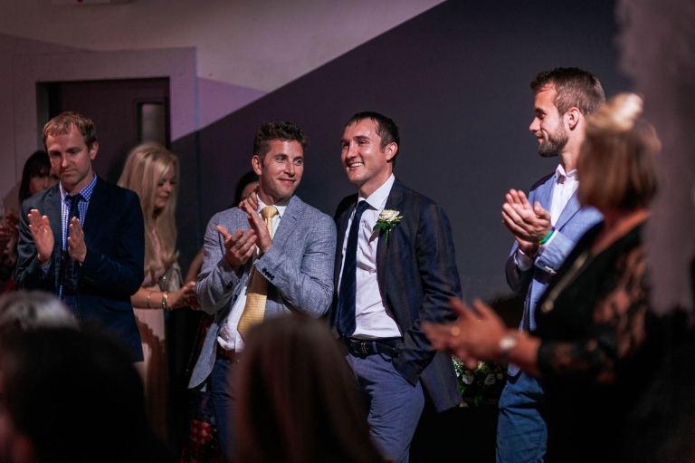 A guest is thanked for his help in planning the wedding