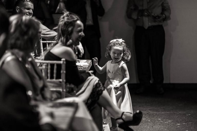 little girl laughing