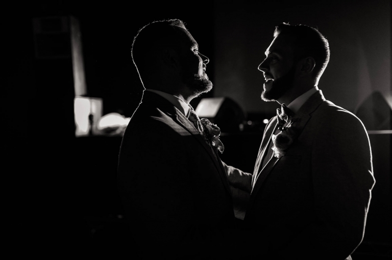 Mark & Luke sing during the first dance