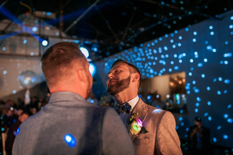 Luke smiles during the first dance