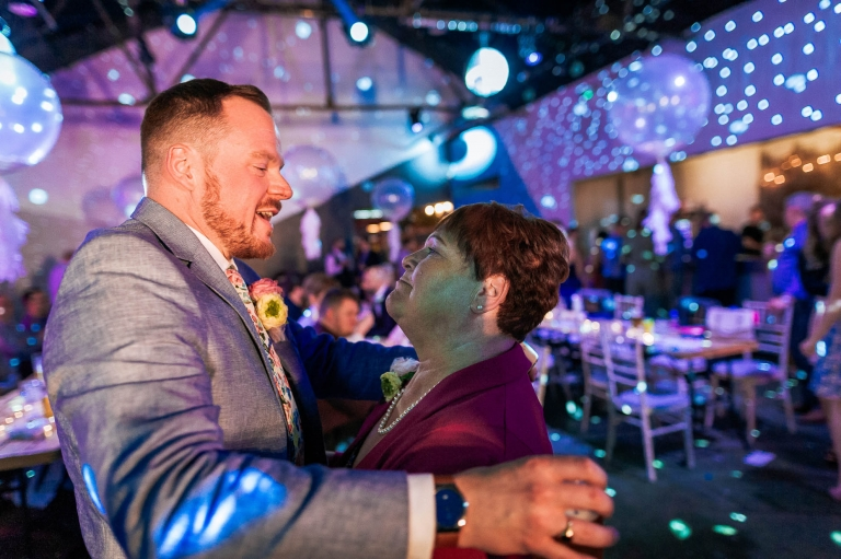 Mike dances with his mum