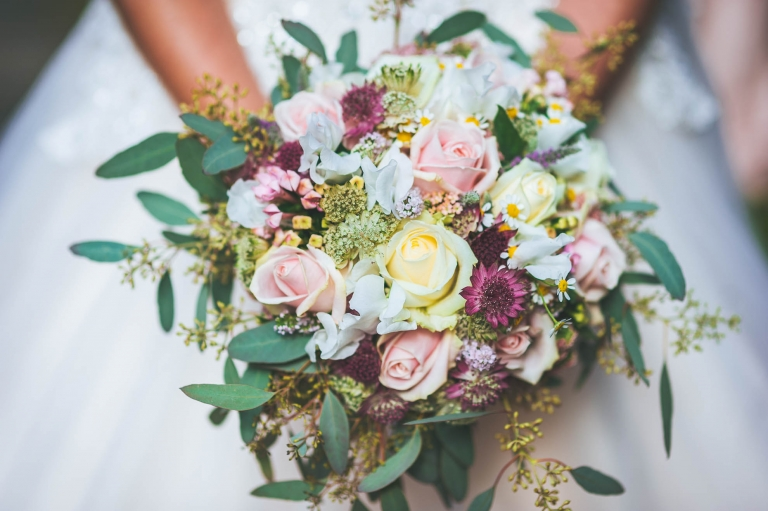 the brides flower bouquet