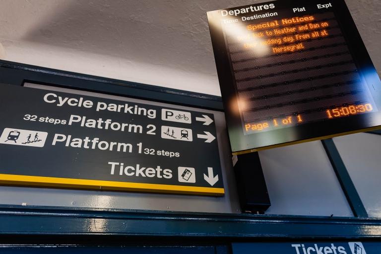 Merseyrail notice board