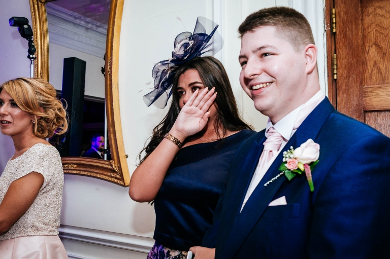 guest sheds a tear during first dance