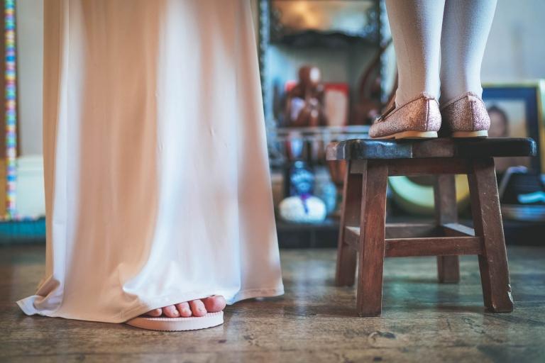 bridesmaids and flower girls feet
