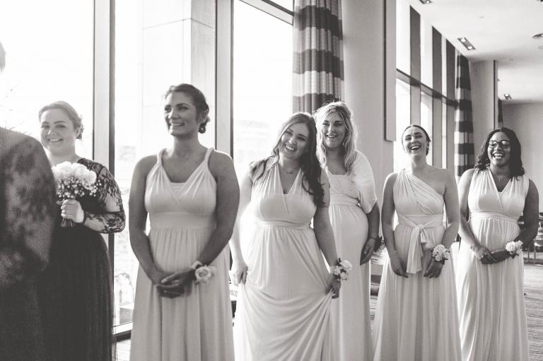 bridesmaids welcome bride
