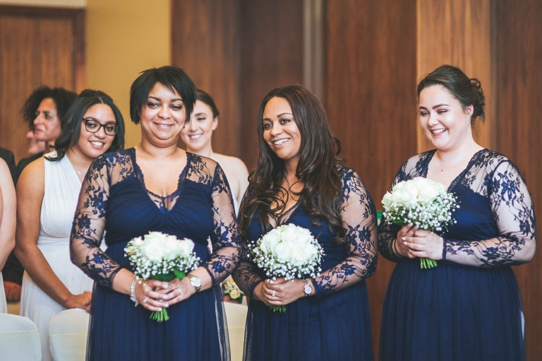 bridesmaids smile