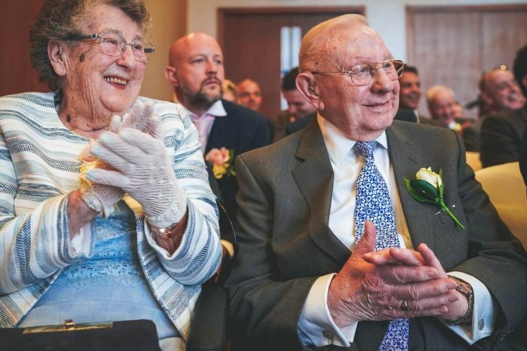 grooms grandparents cheer