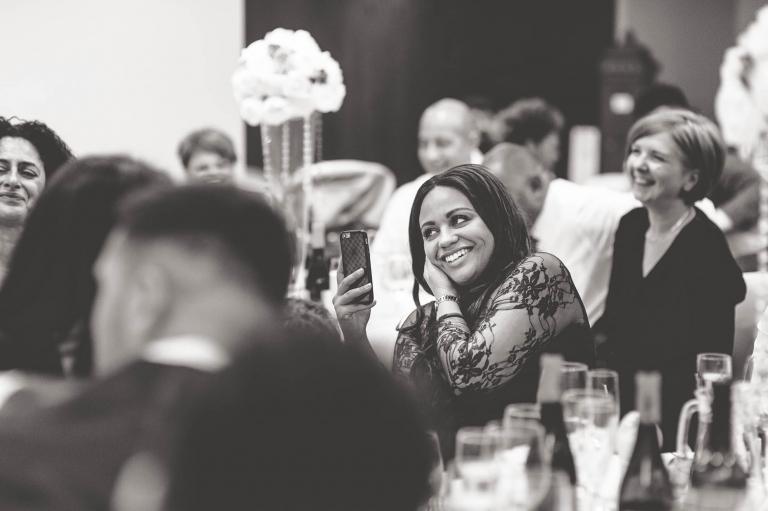 bridesmaid laughs