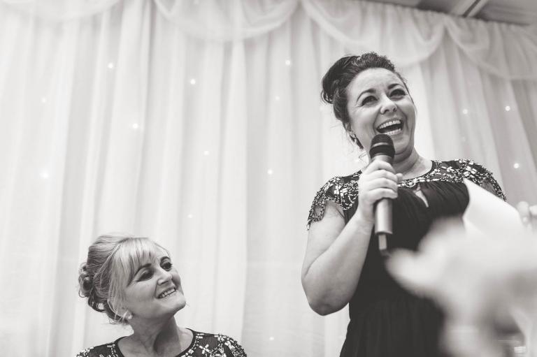 bridesmaid gives speech