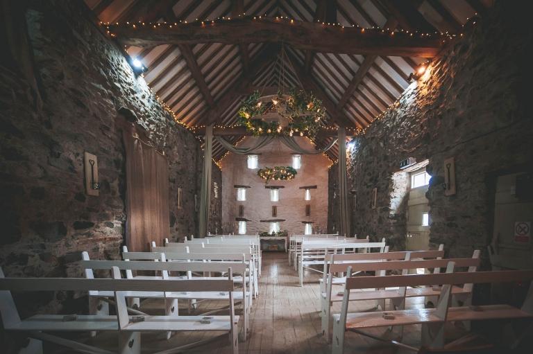 Tall Barn wedding ceremony