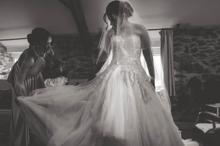 bridesmaid with bride