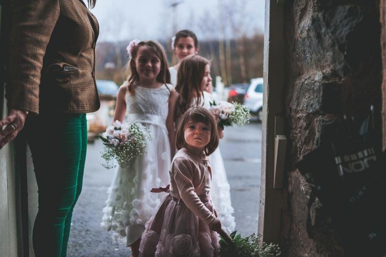 flower girls wait