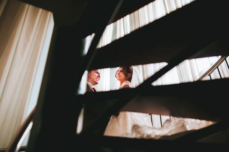 newly weds share a joke