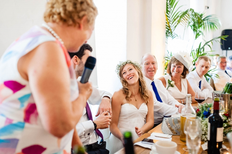 Mother of the groom gives a speech