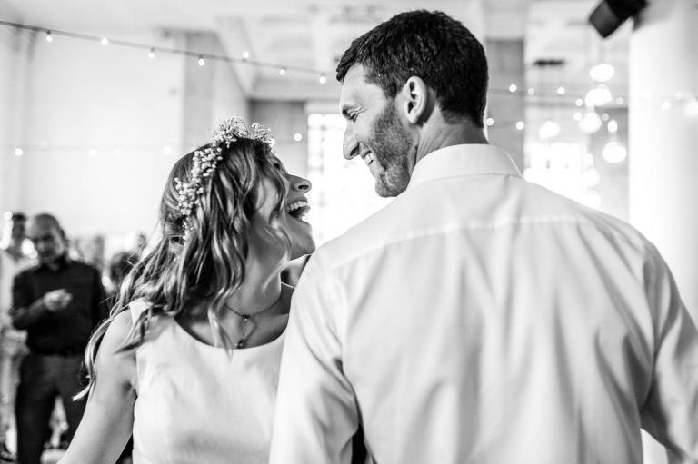 Newlyweds Ceilidh dancing